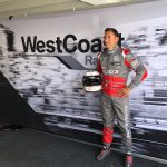 WestCoast Racing with Stage backdrop